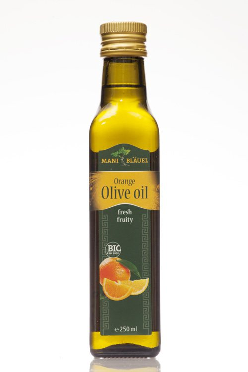 Mani Bläuel Orange Flavoured Extra Virgin Olive Oil, Organic - 250ml