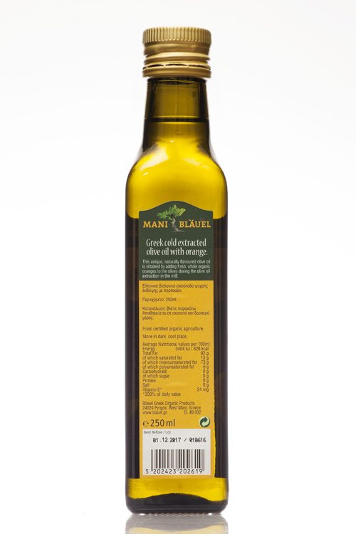 Mani Bläuel Orange Flavoured Organic Olive Oil