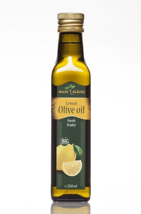 Mani Bläuel Lemon Flavoured Extra Virgin Olive Oil, Organic - 250ml