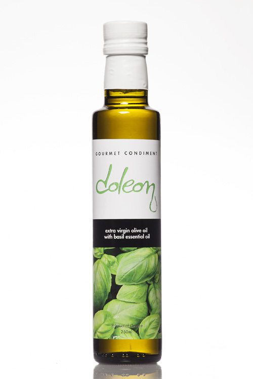 Doleon Extra Virgin Olive Oil infused with basil essential oil - 250ml