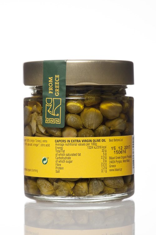 Mani Bläuel Capers in Extra Virgin Olive Oil