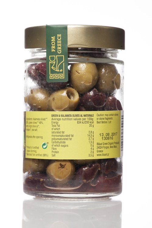 Green & Kalamata Olives, Pitted, al Naturale