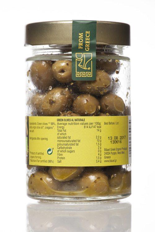Mani Bläuel Green Olives al Naturale